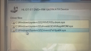 DVD Device Manager Error