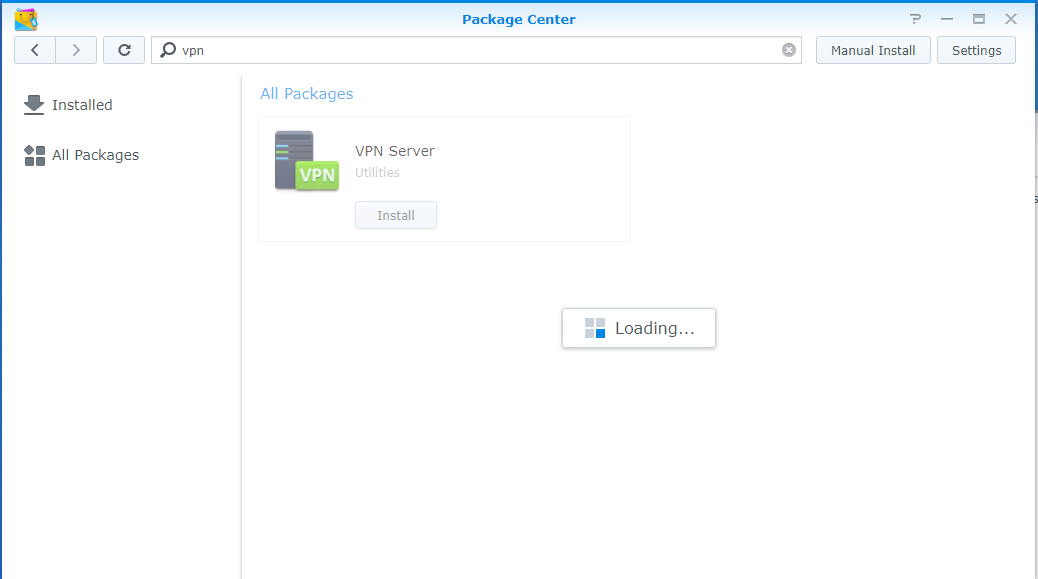 How to Installing Synology VPN Server from package center